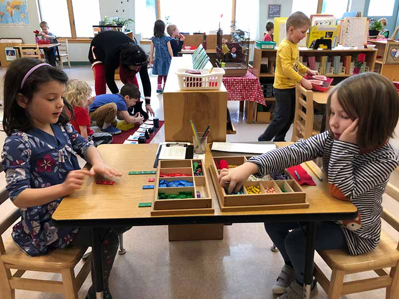 Full Day programs from Kennebec Montessori School